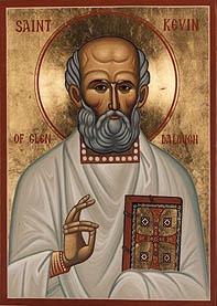 Преподобный Кевин Глендалокский. Современная икона